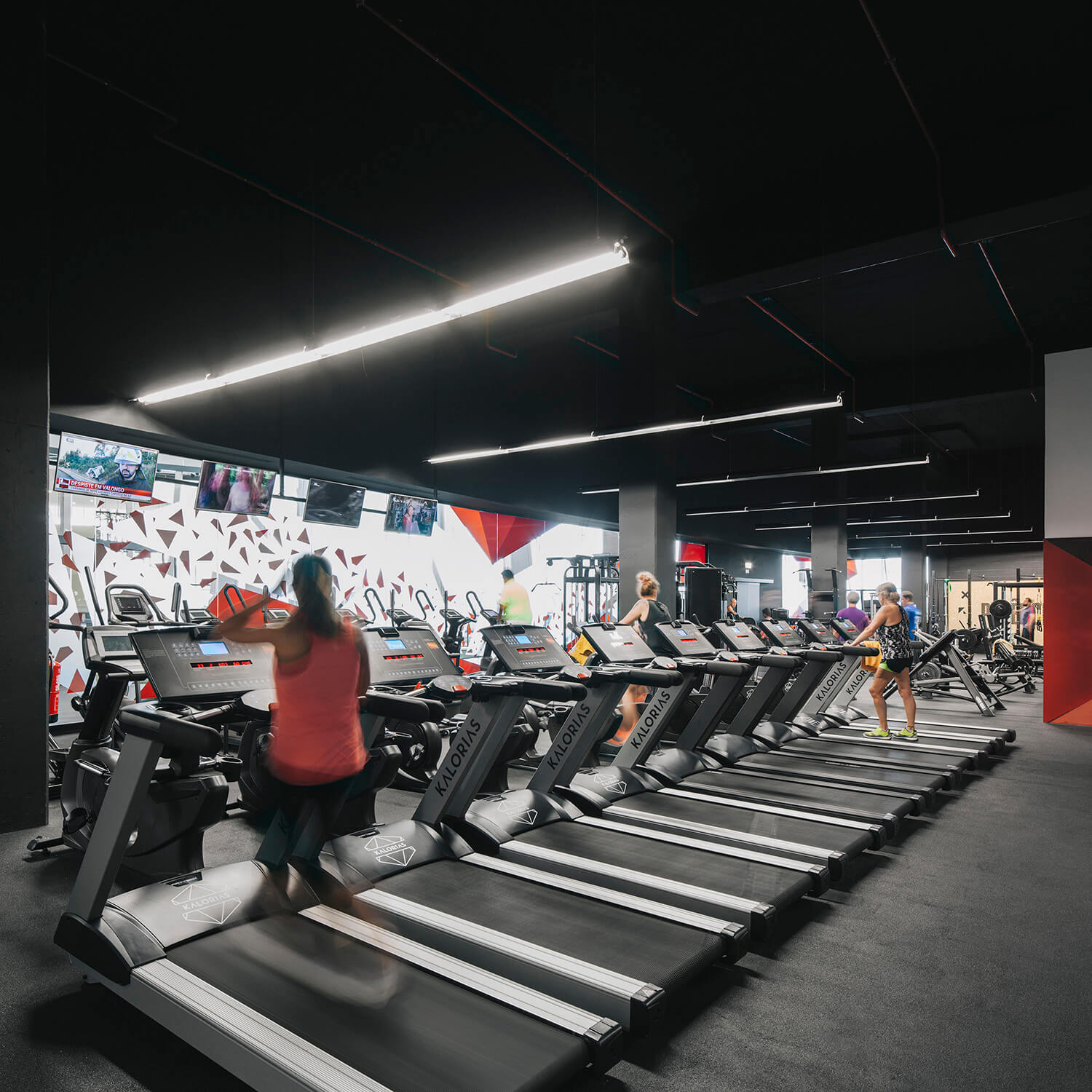Cardio Room Interiors: Perspective To The Outside Of The
